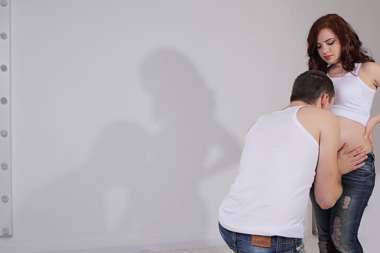 фотосессия в студии беременность