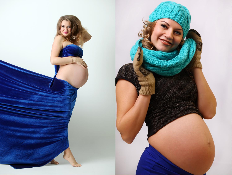 Фотосессия беременных в фотостудии