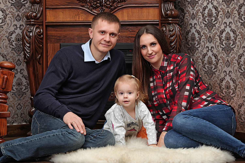 небольшая семейная фотосессия в студии Zavarka