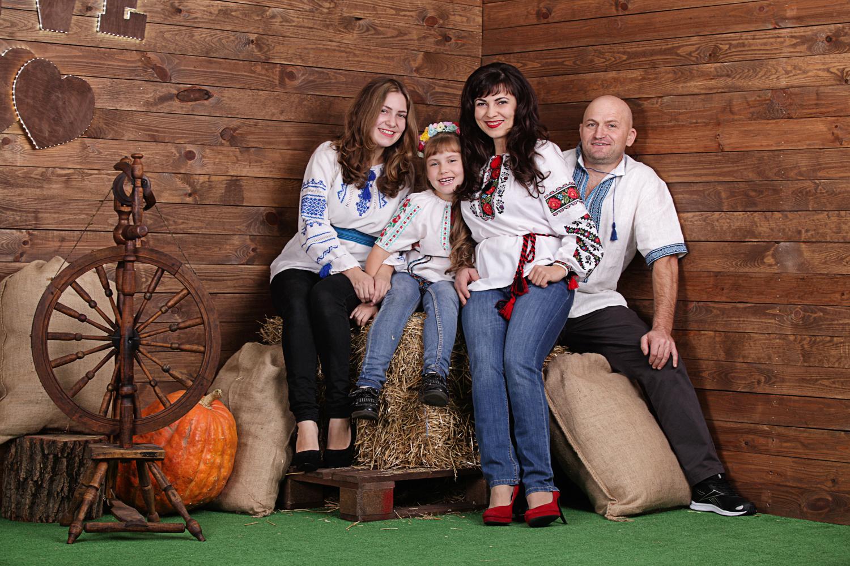 Семейная фотосессия с веретеном